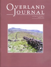 Overland Journal Volume 25 Number 1 Spring 2007