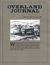 Overland Journal Volume 16 Number 2 Summer 1998