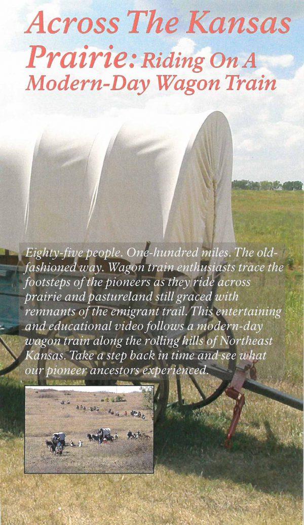 Across the Kansas Prairie: Riding on a Modern-Day Wagon Train (VHS Video)