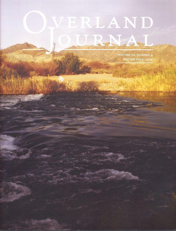 Overland Journal Volume 32 Number 4 2014-2015