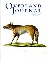 Overland Journal Volume 31 Number 4 Winter 2013