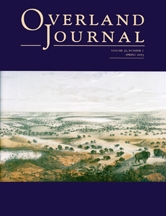 Overland Journal Volume 31 Number 1 Spring 2013