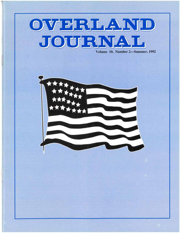 Overland Journal Volume 10 Number 2 Summer 1992