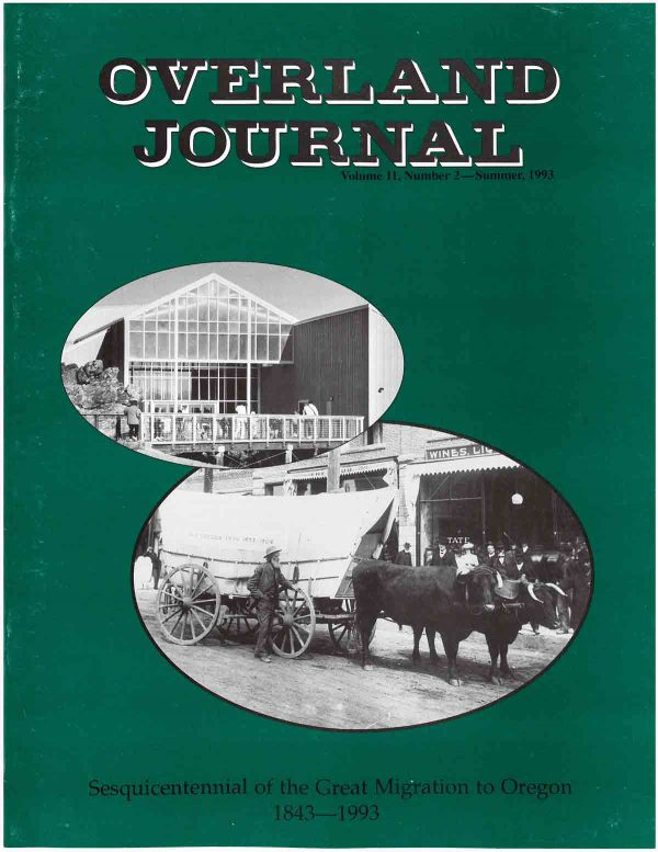 Overland Journal Volume 11 Number 2 Summer 1993