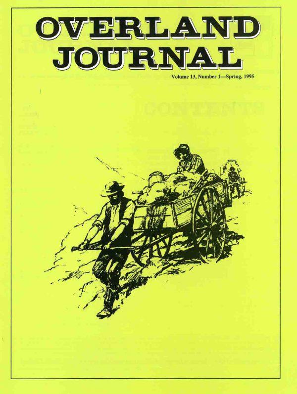 Overland Journal Volume 13 Number 1 Spring 1995