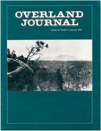Overland Journal Volume 14 Number 2 Summer 1996