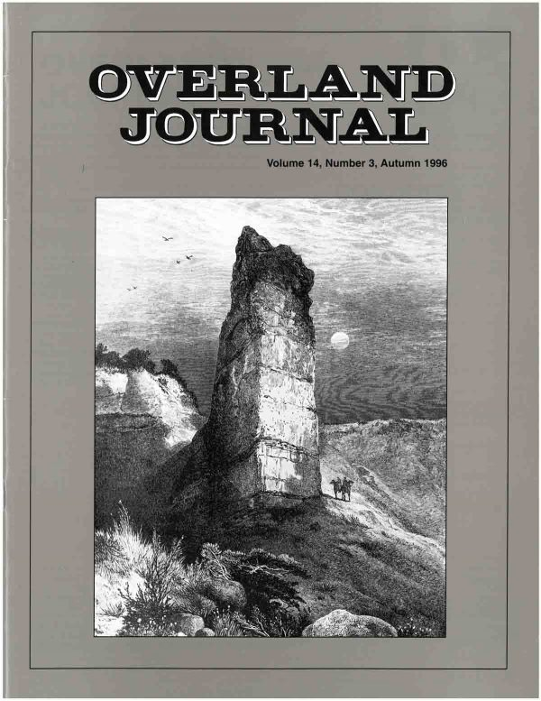 Overland Journal Volume 14 Number 3 Fall 1996