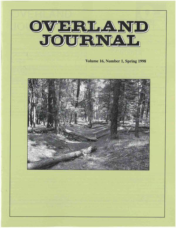 Overland Journal Volume 16 Number 1 Spring 1998