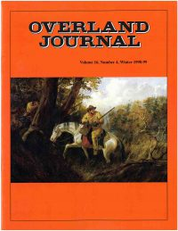 Overland Journal Volume 16 Number 4 Winter 1998-1999