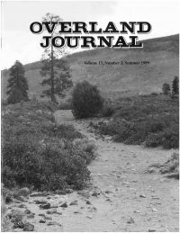 Overland Journal Volume 17 Number 2 Summer 1999