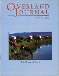 Overland Journal Volume 20 Number 1 Spring 2002
