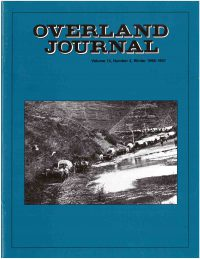 Overland Journal Volume 14 Number 4 Winter 1996-1997