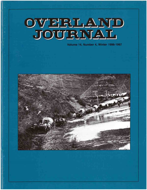 Overland Journal Volume 14 Number 4 Winter 1996-1997