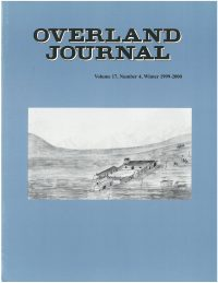 Overland Journal Volume 17 Number 4 Winter 1999-2000