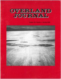 Overland Journal Volume 18 Number 1 Spring 2000