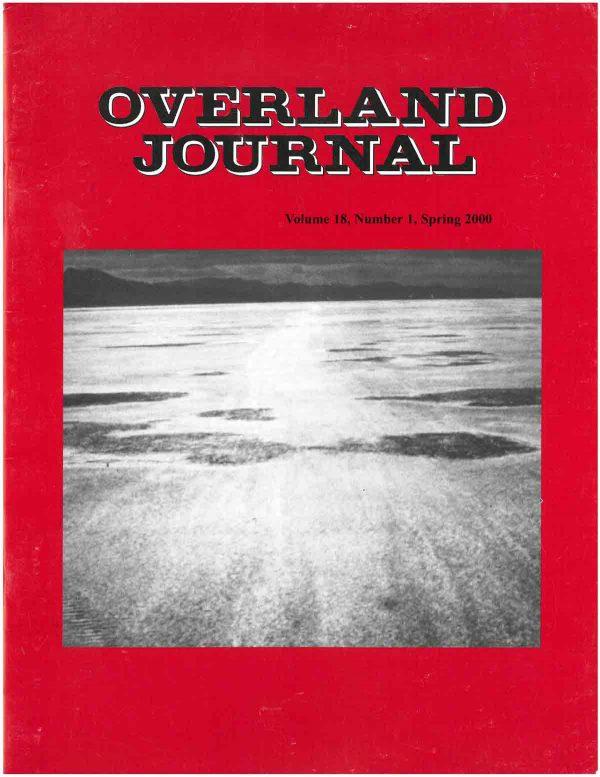 Overland Journal Volume 18 Number 1 Spring 2000