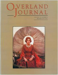 Overland Journal Volume 18 Number 4 Winter 2000/2001