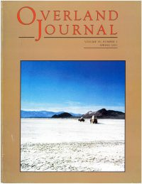 Overland Journal Volume 19 Number 1 Spring 2001