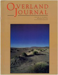 Overland Journal Volume 19 Number 4 Winter 2001/2002