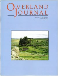 Overland Journal Volume 20 No. 4