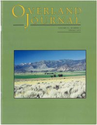 Overland Journal Volume 21 Number 1 Spring 2003