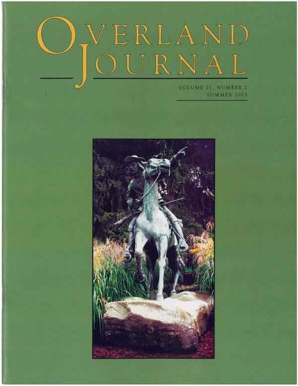 Overland Journal Volume 20 Number 4 Winter 2002