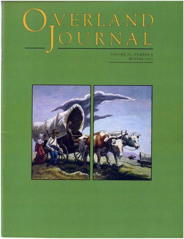 Overland Journal Volume 21 Number 4 Winter 2003
