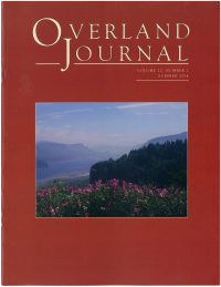 Overland Journal Volume 22 Number 2 Summer 2004