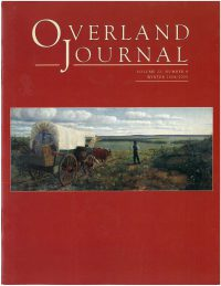 Overland Journal Volume 22 Number 4 Winter 2004/2005