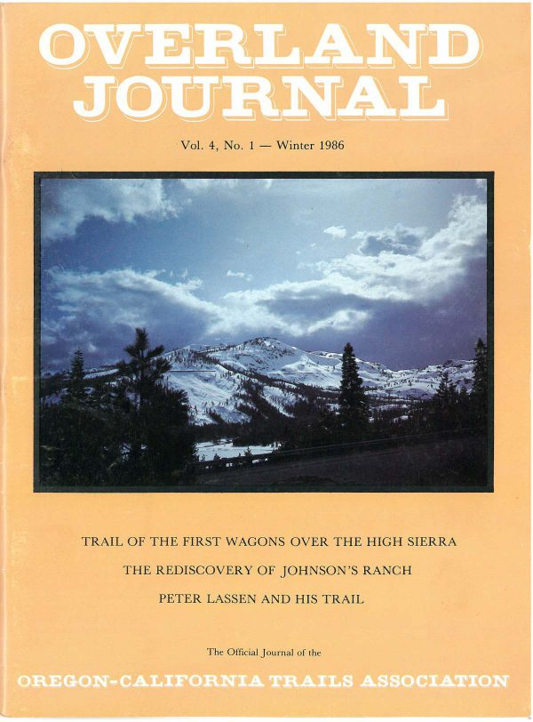 Overland Journal Volume 4 Number 1 Winter 1986