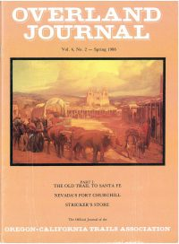 Overland Journal Volume 4 Number 2 Spring 1986