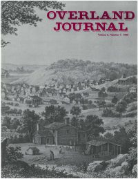 Overland Journal Volume 6 Number 1 1988