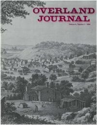 Overland Journal Volume 6 Number 1 1988