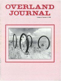 Overland Journal Volume 6 Number 2 1988