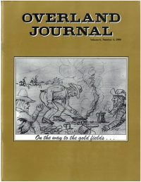 Overland Journal Volume 6 Number 4 1988