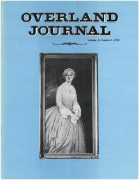 Overland Journal Volume 8 Number 1 1990