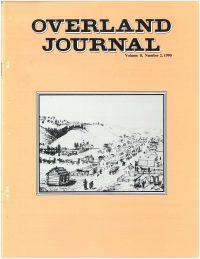 Overland Journal Volume 8 Number 2 1990
