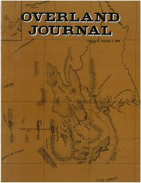 Overland Journal Volume 8 Number 3 1990