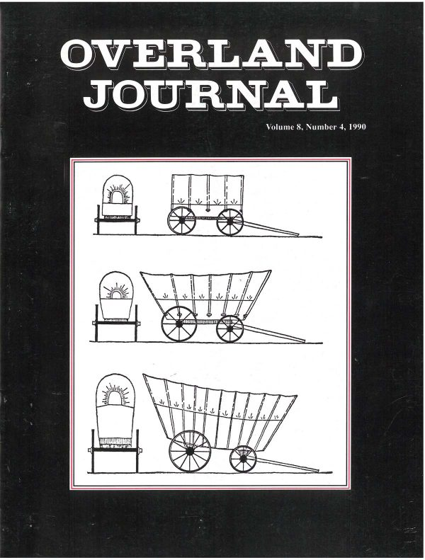 Overland Journal Volume 8 Number 4 1990