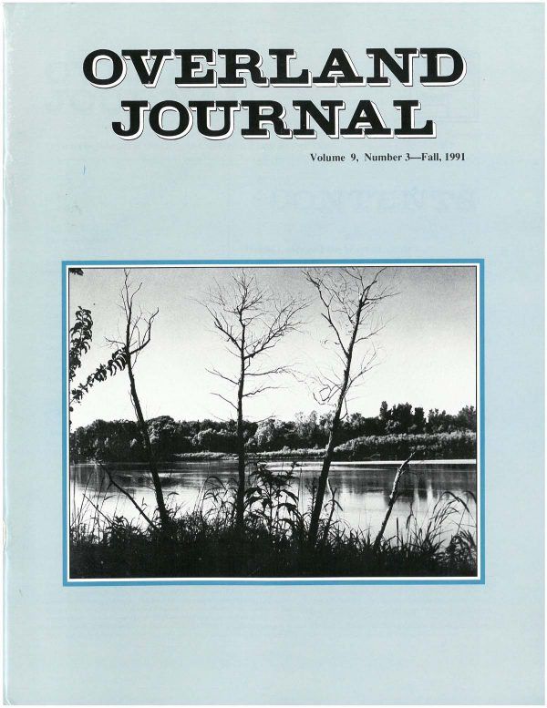 Overland Journal Volume 9 Number 3 Fall 1991