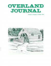 Overland Journal Volume 9 Number 4 Winter 1991