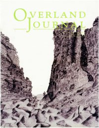 Overland Journal Volume 25 Number 4 Winter 2007