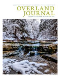 cover of Overland Journal vol 36 no 4 Winter 2018