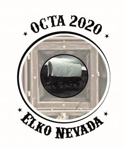 Logo with covered wagon for OCTA 2020 convention in Elko Nevada