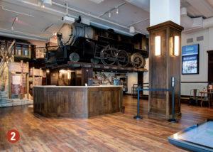 Train display in museum
