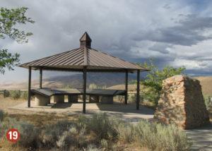 Bonneville Recreation Area shelter