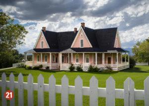 Pink pioneer home