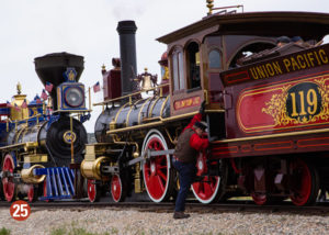 Two old time steam locomotives