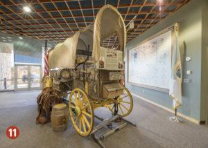 Pioneer wagon display