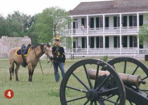 Cavalry reenactor at Fort Laramie
